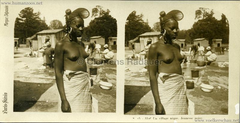 S 16 - 3326 Un village nègre. Jeunesse noire. (Paris?)