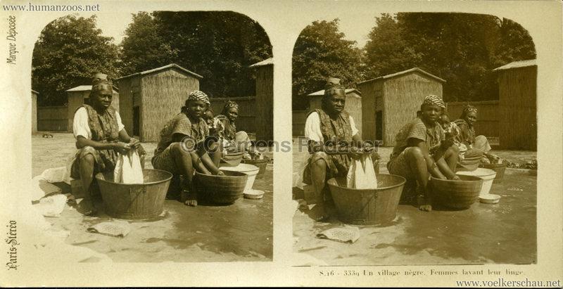 S 16 - 3339 Un village nègre. Femmes lavant leur linge. (Paris?)