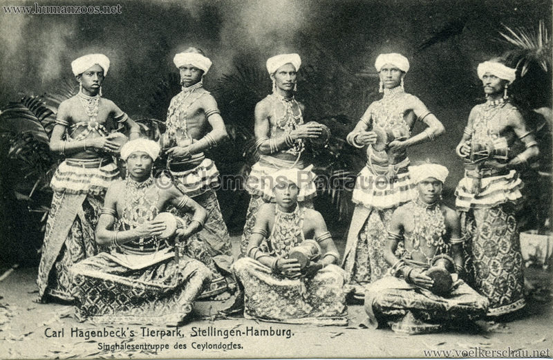 Singhalesentruppe des Ceylondorfes 175