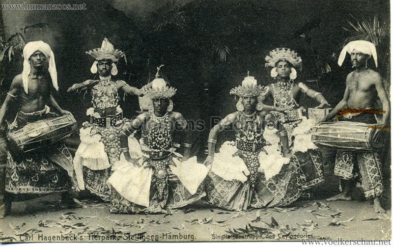 Singhalesentruppe des Ceylondorfes 176