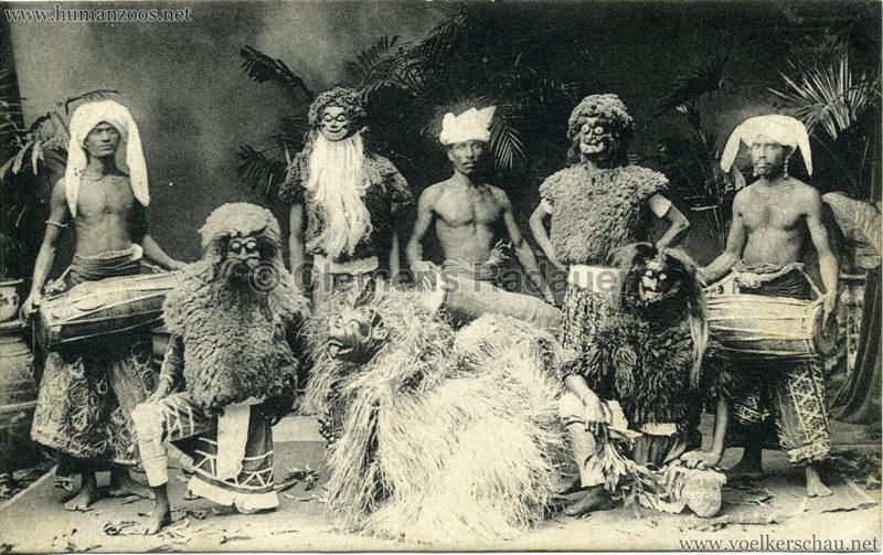 Singhalesentruppe des Ceylondorfes 178