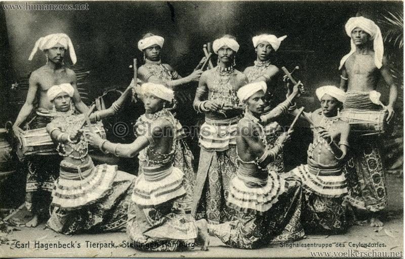Singhalesentruppe des Ceylondorfes 179