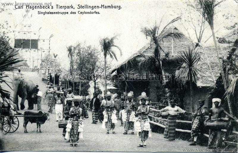 Singhalesentruppe des Ceylondorfes 191