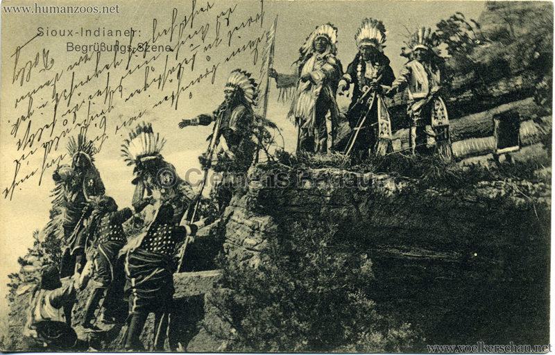 Sioux - Indianer Begrüßungs - Szene