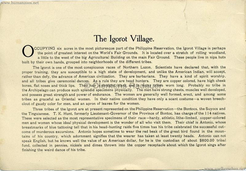 Souvenir Igorot Village Booklet S 2