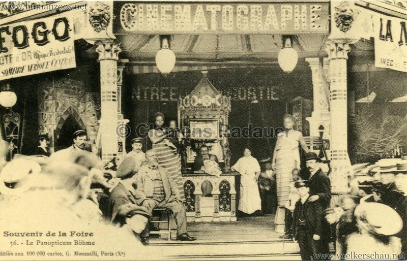 Souvenir de la Foire - Le Panopticum Böhme - Togo Truppe