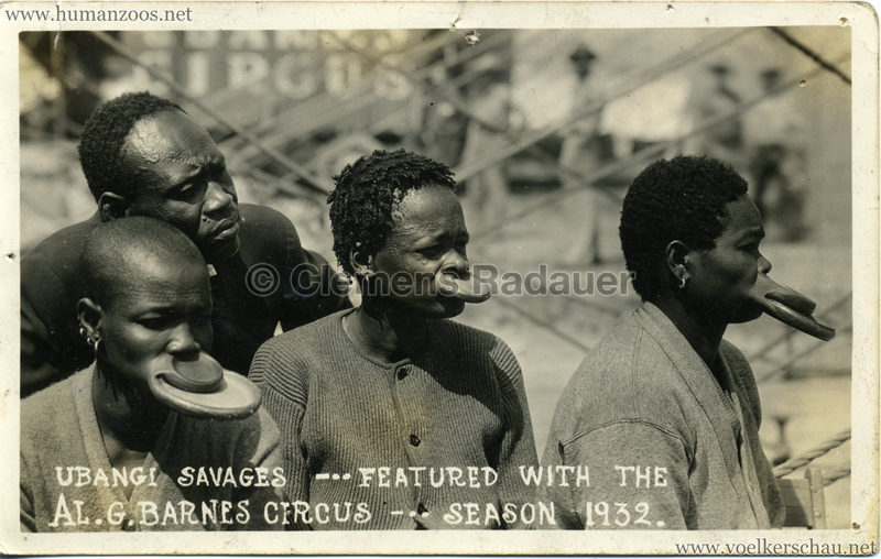 1931/1932 Ubangi Savages - Ubangi Savages - Featured with the AL.G.Barnes Circus - season 1932