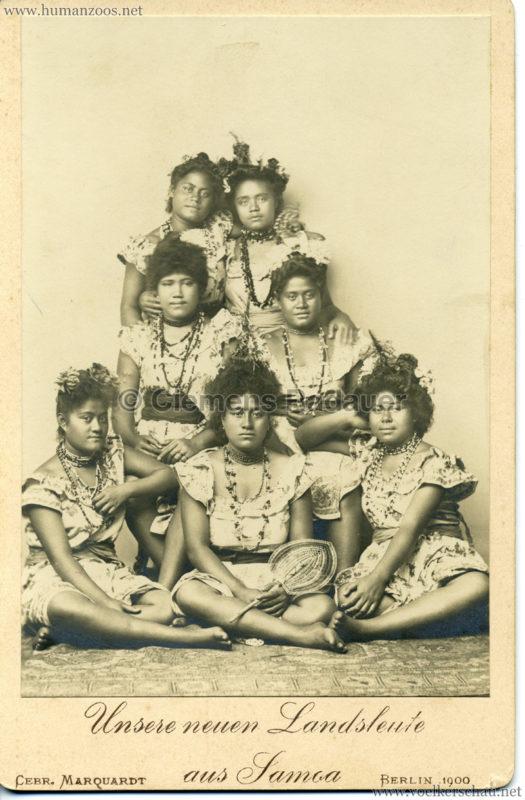1900 Unsere neuen Landsleute aus Samoa, Berlin 1900 VS