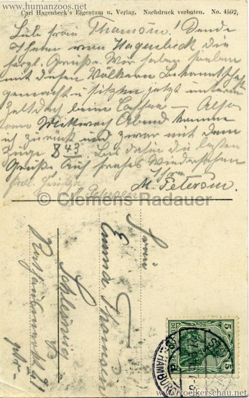 1913 Völkerschau Abessinien RS gel. 27.09.1913