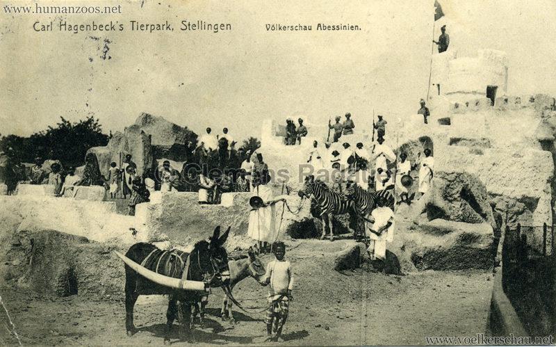 1913 Völkerschau Abessinien VS gel. 27.09.1913