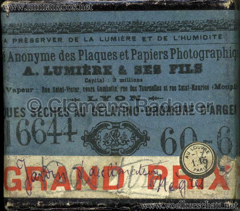 Jardin d'Acclimatation Glassdias 1903 Achantis (?) 1