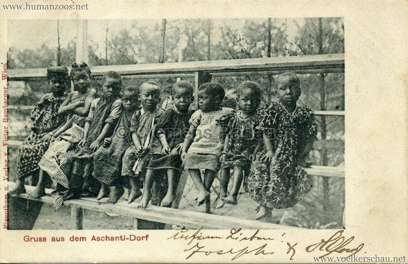 1899 Gruss aus dem Aschanti-Dorf gel. 25.06.00
