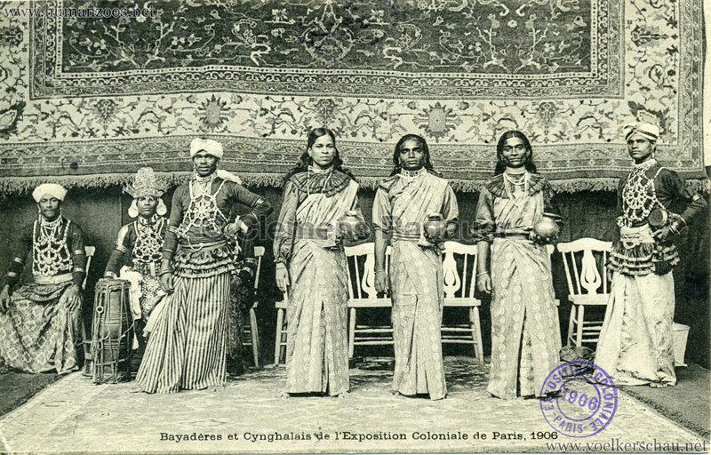 1906 Exposition Coloniale de Paris - Bayaderes et Cynghalais gel. 05.11.1906