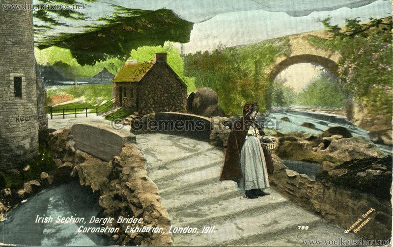 1911 Coronation Exhibition London - 789. Irish Section, Dargle Bridge gel. 24.08.1911