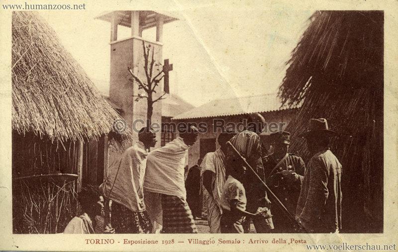 1928 Esposizione Torino - Villaggio Somalo 3. Arrivo della Posta