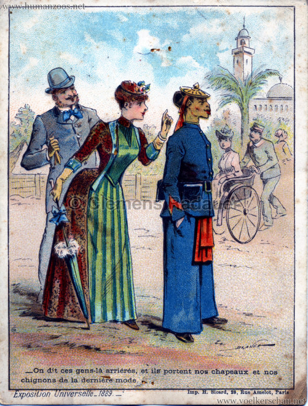 1889 Exposition Universelle Paris - Chapeau