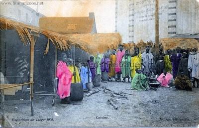 1905 Exposition de Liège - Village Sénégalais - Cuisine bunt