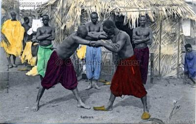 1905 Exposition de Liège - Village Sénégalais - Lutteurs bunt