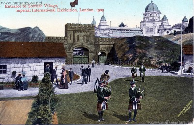 1909 Imperial International Exhibition - Scottish Village - Entrance