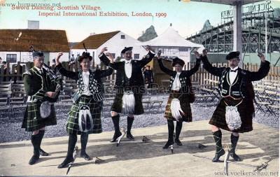 1909 Imperial International Exhibition - Scottish Village - Sword Dancing