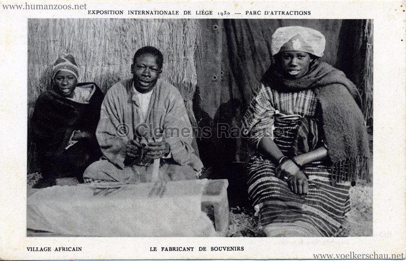 1930 Exposition Internationale de Liége - Village Africain - Le fabricant de souvenirs