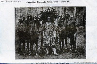 1931 Exposition Coloniale Internationale Paris - Togo Cameroun - Les Indigènes