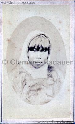 1881 (?) Hagenbeck Eskimo - CDV - Adrian Jacobsen VS