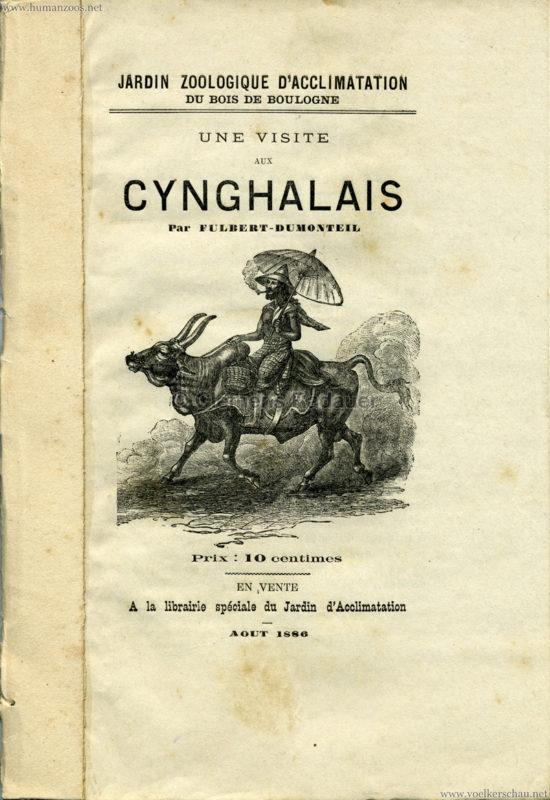 1886 Les Cynghalais - Jardin d'Acclimatation PROGRAMMHEFT 1 kopieren