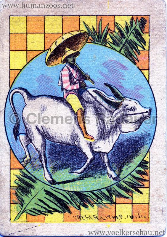 1886 Les Cynghalais - Jardin d'Acclimatation WERBEKARTE VS
