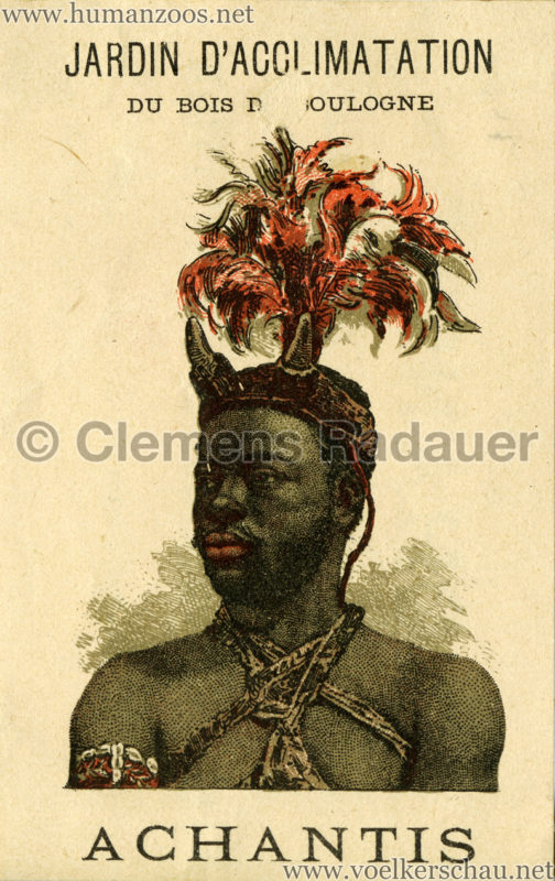 1887 Achantis - Paris Jardin d'Acclimatation WERBEKARTE 1 VS