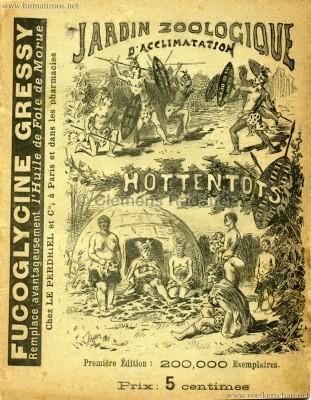 1888 Hottentots - Jardin d'Acclimatation PROGRAMMHEFT S.0