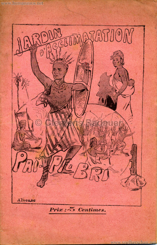 1893 Pai Pi Bri - Jardin d'Acclimatation PROGRAMMHEFT