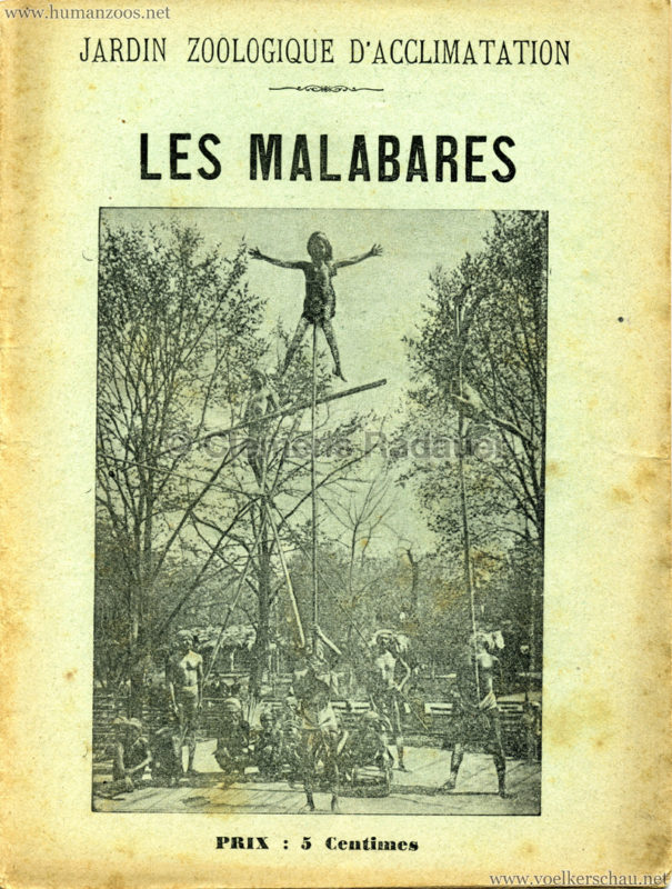 1902 Les Malabares - Jardin d'Acclimatation PROGRAMMHEFT