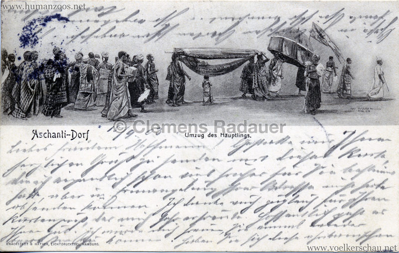 1903 Aschanti-Dorf - Umzug des Häuptlings