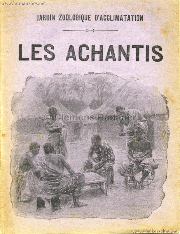 1903 Les Achantis Jardin d'Acclimatation PROGRAMMHEFT
