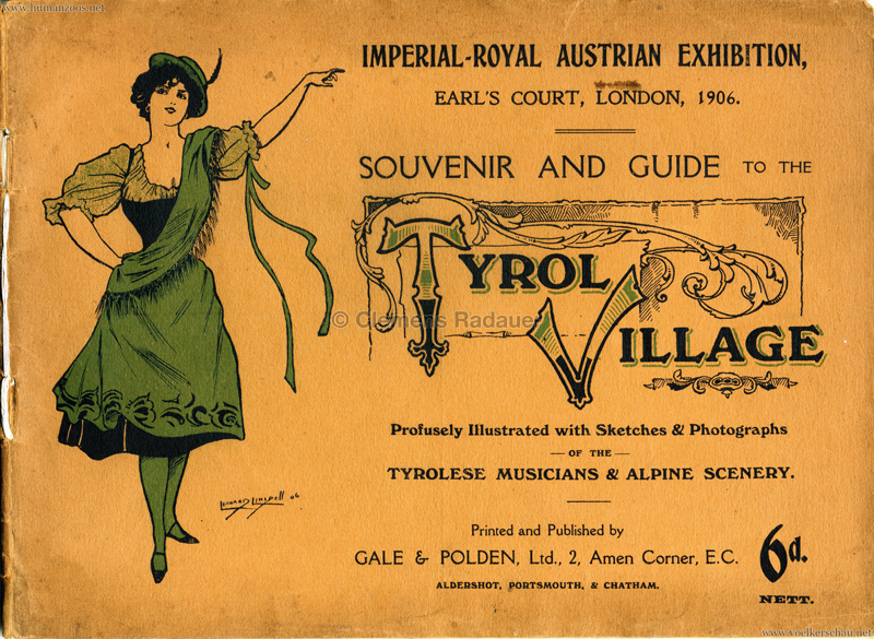 1906 Imperial Royal Austrian Exhibition Earl's Court PROGRAMM
