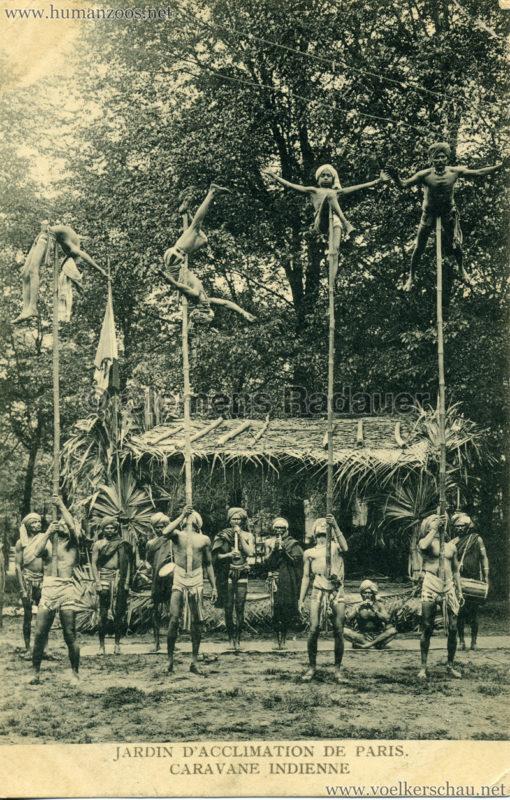 1906 Jardin d'Acclimatation - Caravane Indienne - 4 Stabartisten