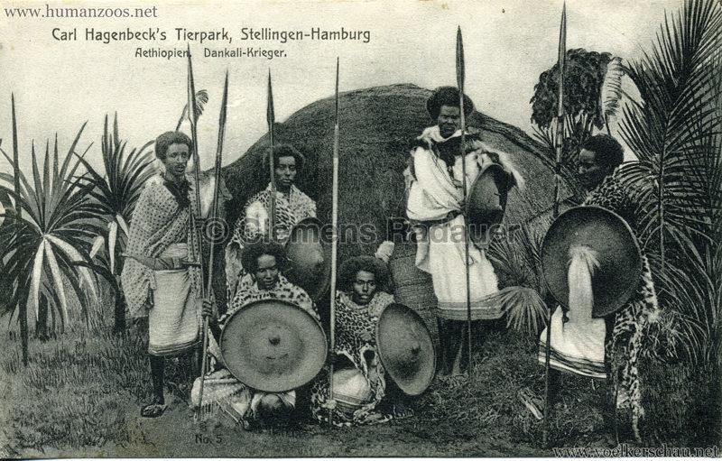 1909 Hagenbeck Aethiopien - 5. Dankali-Krieger