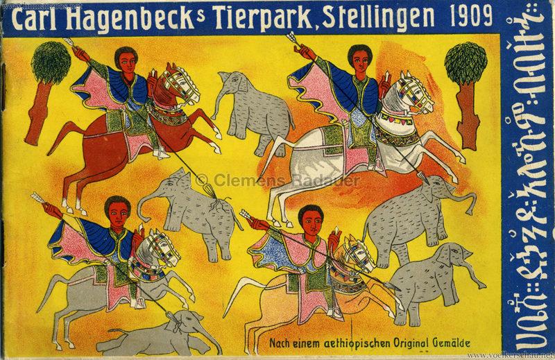 1909 Hagenbeck Aethiopien - PROGRAMMHEFT