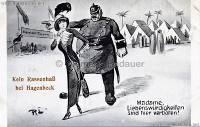 Kein Rassenhaß bei Hagenbeck - Madame, Liebenswürdigkeiten sind hier verboten!