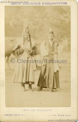 1883 Kalmouks Jardin d'Acclimatation  CDV 2