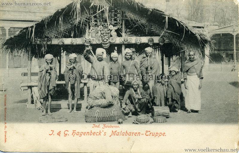 1900:1901 J. & G. Hagenbeck's Malabaren-Truppe - Ind. Zauberer 2