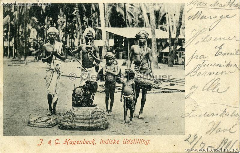 1901 J. & G. Hagenbeck, indiske Udstilling gel.23.07.1901 VS