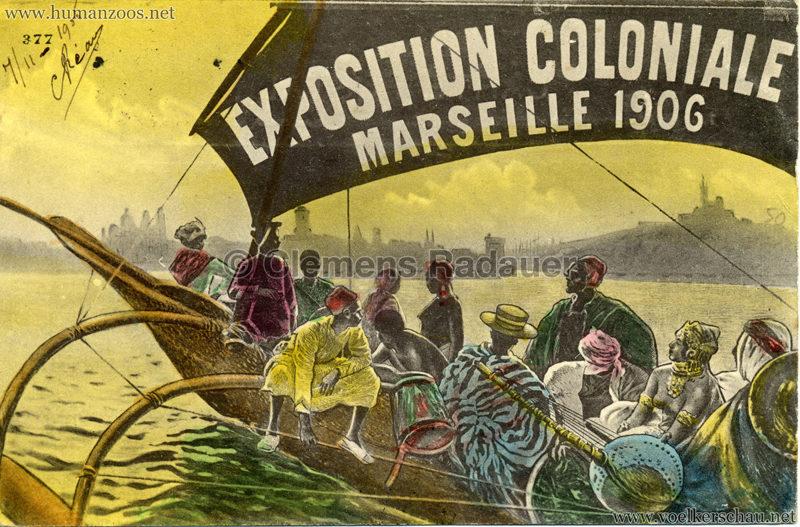 1906 Exposition coloniale Marseille - Bootsmotiv - Postkarte coloriert