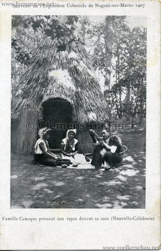 1907 Exposition Coloniale de Nogent-sur Marne - Famille Canaque 1