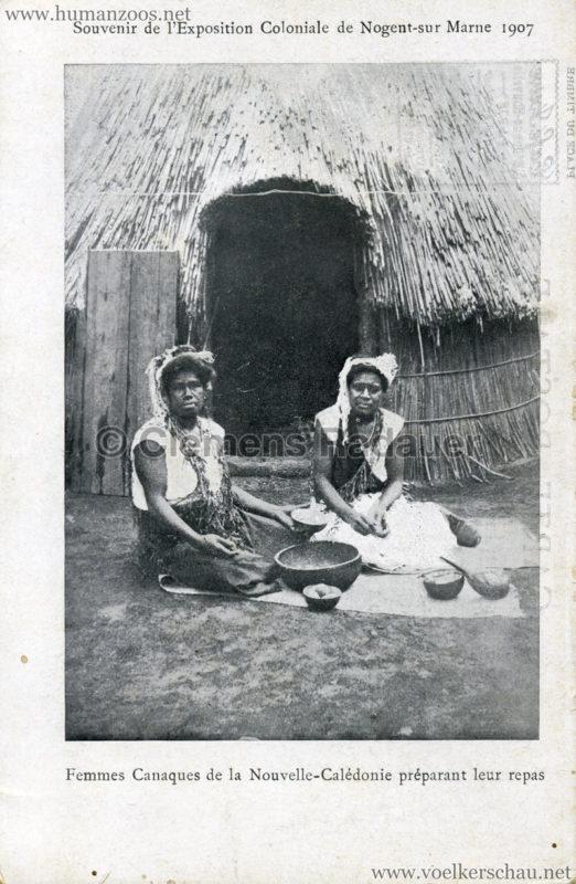1907 Exposition Coloniale de Nogent-sur Marne - Famille Canaque 2