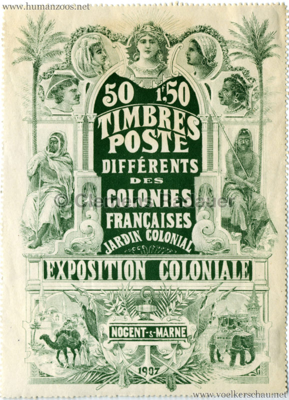 1907 Exposition Coloniale de Nogent-sur Marne STAMP