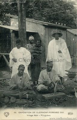 1910 Exposition de Clermont-Ferrand 69. Village Noir - Piroguiers