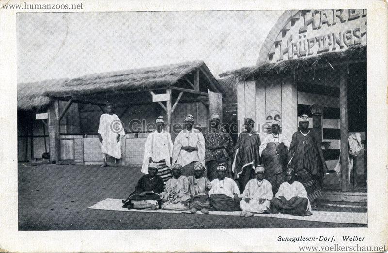 1910 (?) Senegalesen-Dorf. Weiber