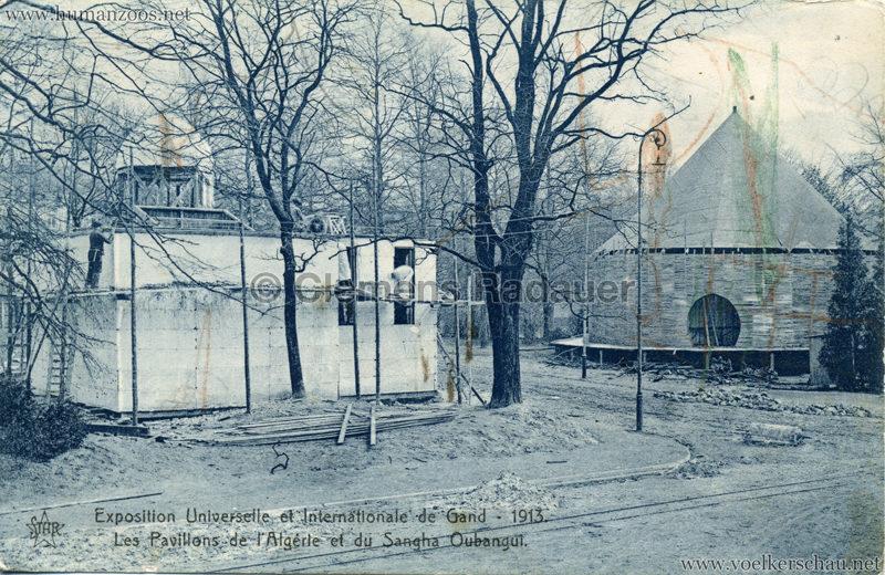 1913 Exposition de Gand - Les Pavillons der l'Algerie et du Sangha Oubangui